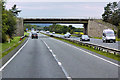 SH9776 : Bridge over the North Wales Expressway near St George by David Dixon