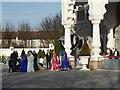 TQ6573 : A Sikh wedding party at the Guru Nanak Darbar Gurdwara by Marathon