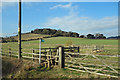 SU8195 : Stile and Fences at Chorley Farm by Des Blenkinsopp