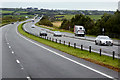 SH4672 : Westbound A55 near to Pentre Berw by David Dixon