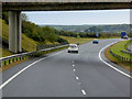 SH4374 : North Wales Expressway, Westbound near to Llangristiolus by David Dixon