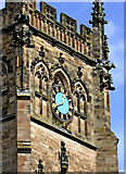 SO8276 : The clock on St Mary's in Kidderminster, Worcestershire by Roger  Kidd