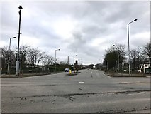 SJ8448 : Brymbo Road from the A34 by Jonathan Hutchins