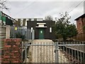 SJ8447 : Electricity substation on Lower Milehouse Lane by Jonathan Hutchins