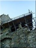 J1811 : Scaffolding on King John's Castle, Carlingford by Eric Jones