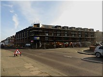 NZ3672 : New flats under construction, Promenade, Whitley Bay by Graham Robson