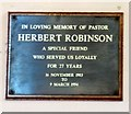 SJ9391 : A tribute to Herbert Robinson by Gerald England