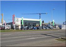 TL4661 : Vindis Skoda, Milton Road by John Sutton