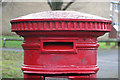 """NZ2364 : """"Anonymous"""" (Victorian) postbox, New Mills, NE4 - aperture by Mike Quinn"""