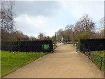 TQ2879 : Entrance to Rose Garden, Hyde Park by PAUL FARMER