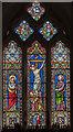 SK9716 : East window, St Mary's church, Clipsham by Julian P Guffogg
