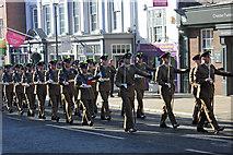 SJ4066 : Mercian Regiment Freedom Parade in Chester by Jeff Buck