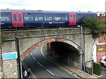 SO8455 : Farrier Street railway bridge by Jonathan Billinger