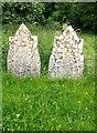 SP8526 : Headstones, Stewkley churchyard by Stefan Czapski