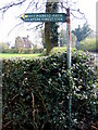 SJ5064 : Delamere Youth Hostel fingerpost on the A51 - now gone (1) by John S Turner