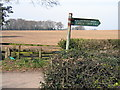 SJ5064 : Delamere Youth Hostel fingerpost on the A51 - now gone (2) by John S Turner