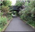 SO9322 : Queen's Road bridge over the Honeybourne Line, Cheltenham by Jaggery