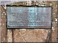 NS7993 : Rob Roy plaque by Gerald England