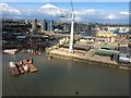 TQ3980 : Canning Town from the Emirates Skyline by Nigel Thompson