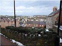 SJ0566 : Looking down on Denbigh from near the Burgess Gate by Eirian Evans