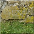 SK3927 : Bench mark, churchyard wall, Weston-on-Trent by Alan Murray-Rust