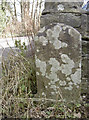 ST6866 : Initialed stone by the garage by Neil Owen
