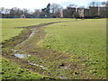 TQ1190 : Ditch on Montesole Playing Fields at Pinner Green by Marathon
