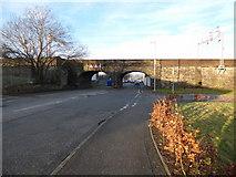 NS2875 : Cartsburn Street railway bridge by Thomas Nugent