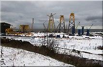 NT3698 : Burntisland Fabrications yard at Methil by Bill Kasman