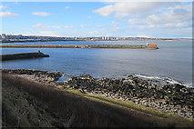 NJ9605 : Harbour Entrance by Anne Burgess