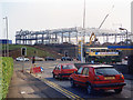 ST3086 : Construction of a Homebase store, Cardiff Road, Newport (1995) by Robin Drayton