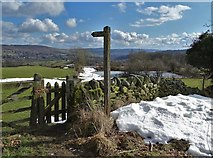 SK2375 : Path above Stoney Middleton by Neil Theasby