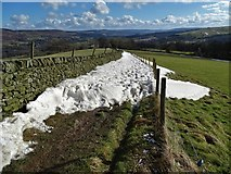SK2376 : Snowbound path from Top Riley to New Road by Neil Theasby