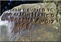 SK2276 : Tomb inscription - Riley Graves site by Neil Theasby
