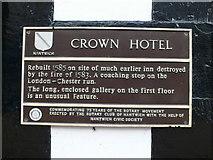 SJ6552 : Crown Hotel plaque by Eirian Evans