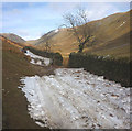 NY4206 : Snow on the bridleway, Hagg Gill by Karl and Ali