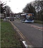 ST3096 : Chepstow bus, Edlogan Way, Croesyceiliog, Cwmbran by Jaggery