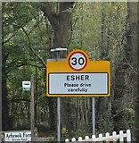 TQ1463 : Entering Esher, Copsem Lane by N Chadwick