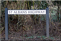 TL1824 : St Albans Highway sign by Adrian Cable