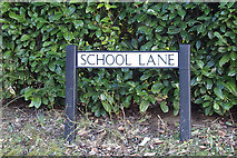 TL1824 : School Lane sign by Adrian Cable