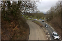 TQ2652 : Footbridge over the A217 looking northwards by Robert Eva