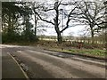 SJ7745 : Road and path junction in Madeley by Jonathan Hutchins