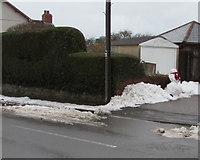 ST3090 : Pillmawr Road snowman, Malpas, Newport by Jaggery