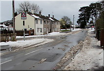 ST3090 : Snow remnants, Pillmawr Road, Malpas, Newport by Jaggery