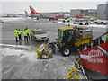 NT1573 : Snow clearing at Edinburgh Airport by M J Richardson