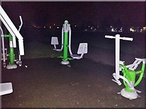 TQ1988 : Outdoor gym in Roe Green Park, Kingsbury by David Howard