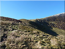 SJ0731 : The headwall of Craig y Llyn by Richard Law