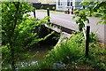 SP4304 : Bridge over a stream, Bablock Hythe, Oxon by P L Chadwick