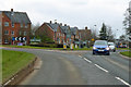 SU0160 : Roundabout on A342 and newish houses, Devizes by Robin Webster