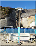 SZ0990 : East Cliff Lift is Closed by Des Blenkinsopp